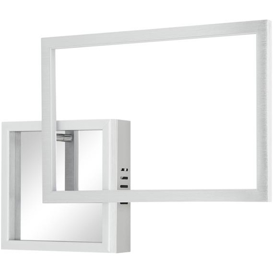 KHG LED-Wand-/Deckenleuchte, Quadrate ¦ silber