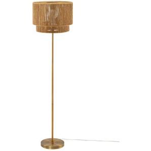 KHG Stehleuchte, 1-flammig, gold-antik ¦ gold ¦ Maße (cm): H: 137 Ø: 39