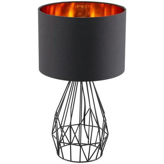 KHG Tischleuchte, 1-flammig, Schwarz / goldfarben - schwarz   Möbel Kraft