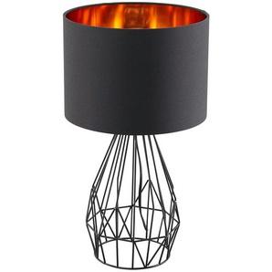 KHG Tischleuchte, 1-flammig, Schwarz / goldfarben ¦ schwarz Ø: 25