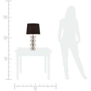 KHG Tischleuchte   silber   65 cm  