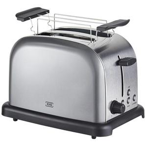 KHG Toaster  TO-1000 (AS) - grau - Kunststoff, Edelstahl - 30 cm - 20 cm - 18,3 cm | Möbel Kraft