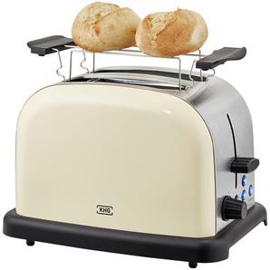 KHG Toaster  TO-1005 (CE) - creme - Kunststoff, Edelstahl - 30 cm - 20 cm - 18,3 cm | Möbel Kraft