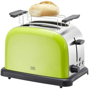 KHG Toaster  TO-1005 (LS) - grün - Kunststoff, Edelstahl - 30 cm - 20 cm - 18,3 cm | Möbel Kraft