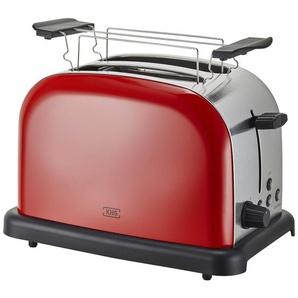 KHG Toaster  TO-1005 (RS) - rot - Kunststoff, Edelstahl - 30 cm - 20 cm - 18,3 cm | Möbel Kraft