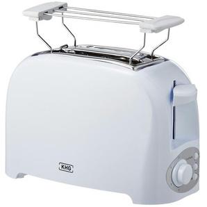 KHG Toaster  TO-755(W) - weiß - Kunststoff - 27 cm - 17,5 cm - 14,8 cm | Möbel Kraft