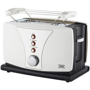 KHG Toaster  TO-802WS - weiß - Metall, Kunststoff - 27 cm - 18,5 cm - 16,5 cm | Möbel Kraft