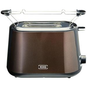 KHG Toaster  TO-806 (MMS)   braun   Kunststoff   28,1 cm   17,6 cm   17,6 cm  