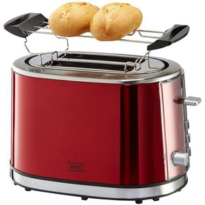 KHG Toaster  TO-852 (MRE) - rot - Kunststoff, Metall-lackiert - 33,5 cm - 21 cm - 24,5 cm | Möbel Kraft
