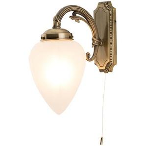 KHG Wandlampe alt-messing in Antik-Optik ¦ gold