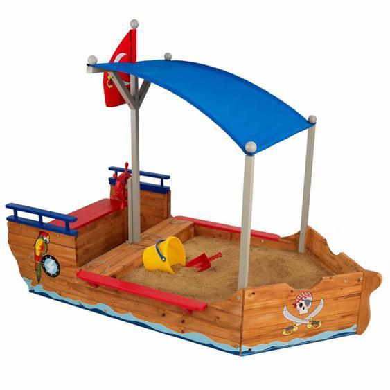 KidKraft Outdoor Piratenschiff mit Sandkasten & Dach Holz 00128