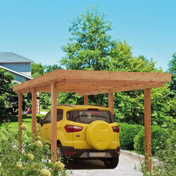 Carport »Berlin«, Kiehn-Holz, Material Holz, Polyvinylchlorid, PVC