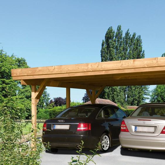 Doppel-Carport »Bochum«, Kiehn-Holz, Material Holz, Polyvinylchlorid, PVC