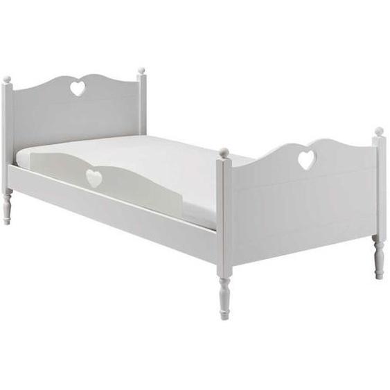 Kinder Einzelbett in Weiß 75 cm Fußteil