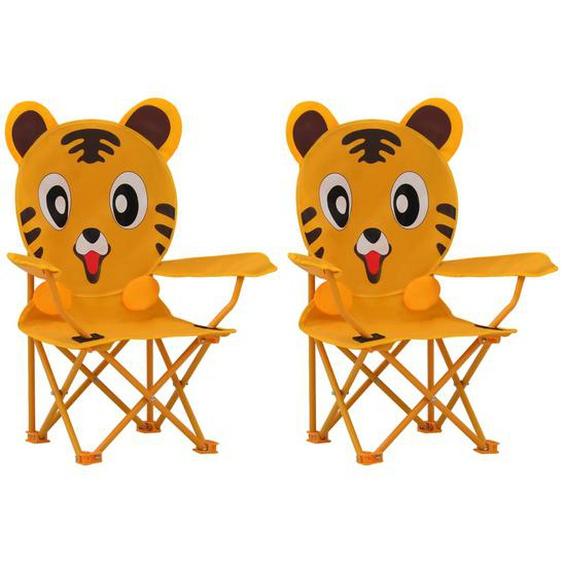 Kinder-Gartenstühle 2 Stk. Gelb Stoff
