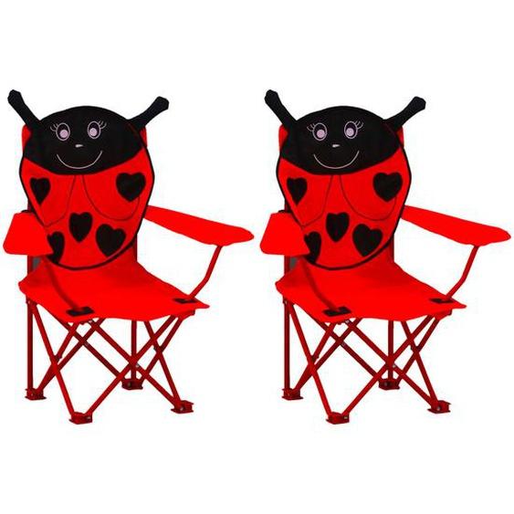 Kinder-Gartenstühle 2 Stk. Rot Stoff