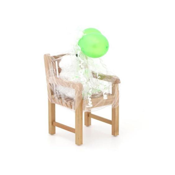 Kinder Gartenstuhl 35x40x56 cm/Kikabär groß 30 cm Weiß