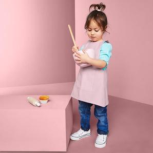 Kinder-Küchenschürze - Rosa - 100% Baumwolle -