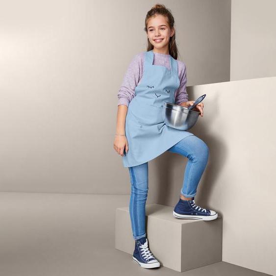 Kinder-Küchenschürze - schwarz - 100% Baumwolle -
