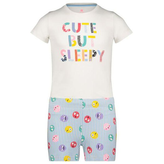 "Kinder-Kurzpyjama, ""Cute But Sleepy"" Eierschalenfarben"