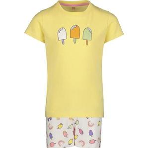 Kinder-Kurzpyjama Gelb