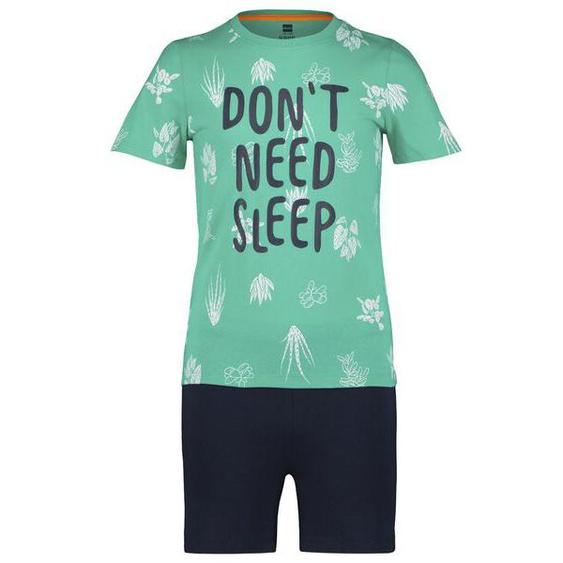 Kinder-Kurzpyjama, Pflanzen Grün