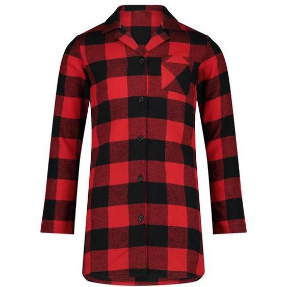 Kinder-Nachthemd, Flanell, Kariert Rot
