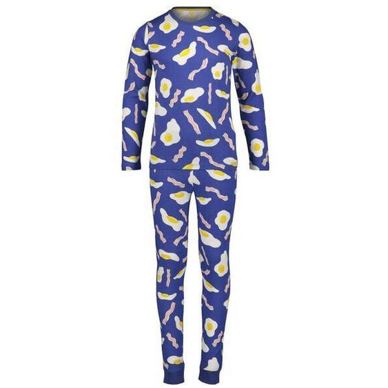 Kinder-Pyjama, Ei Und Schinken Blau