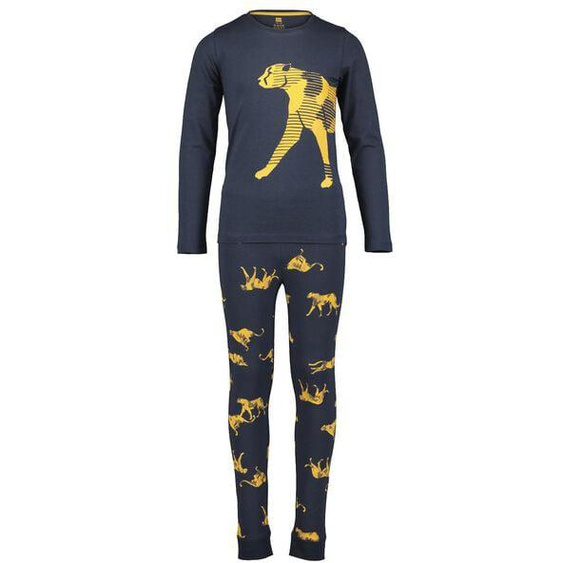 Kinder-Pyjama, Leopard Gelb