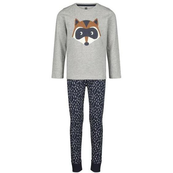 Kinder-Pyjama Waschbär Braun