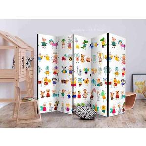 Kinder Raumteiler mit kindlichen Tier Motiven 225 cm breit