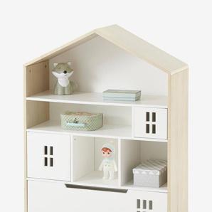 """Kinder Schrank """"Maison"""", Hausform natur/weiß"""