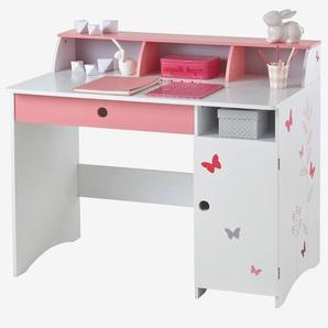"""Kinder Schreibtisch """"Schmetterlinge"""", Grundschulkinder weiß"""