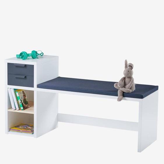 Kinder-Sitzbank mit Aufbewahrung ,,Reglisse weiß/dunkelgrau