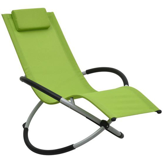 Kinder-Sonnenliege Stahl Grün