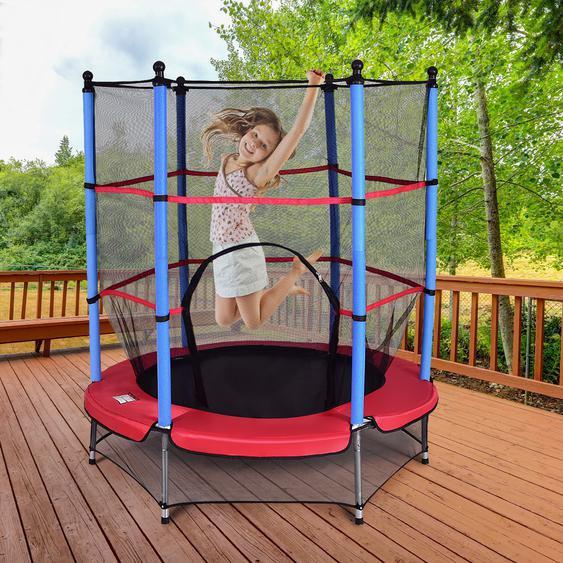 Kinder Trampolin 140 cm Gartentrampolin mit Sicherheitsnetz Sicherheitsrampolin