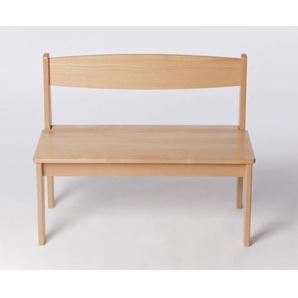 Kinderbank Holz Buche massiv lackiert Sitzhöhe 32,5 cm