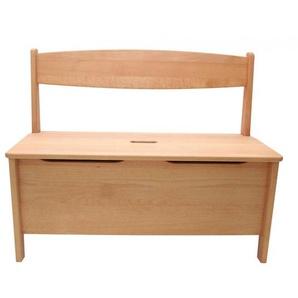 Kinderbank mit Truhe Holz Buche massiv geölt Sitzhöhe 32,5 cm