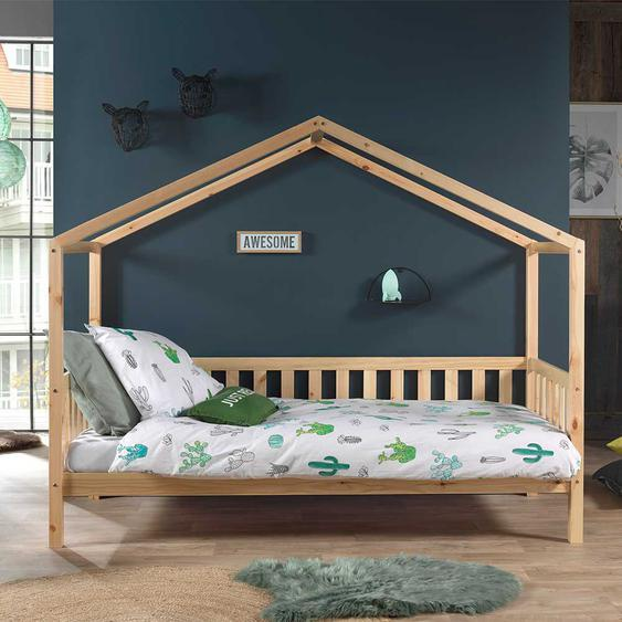 Kinderbett aus Kiefer Massivholz Haus