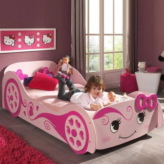 Kinderbett für Mädchen Rosa