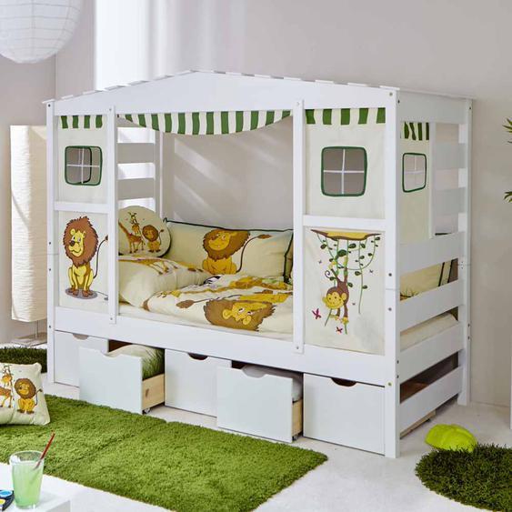 Kinderbett im Dschungel Design Schubladen