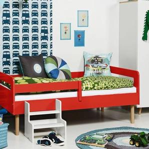 Kinderbett mit Rolllattenrost in 90x160 cm orange - Kids Town Retro