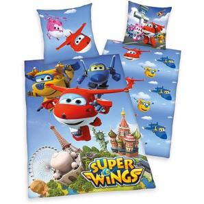 Kinderbettwäsche »Super Wings«, 80x80 cm, trocknergeeignet, blau