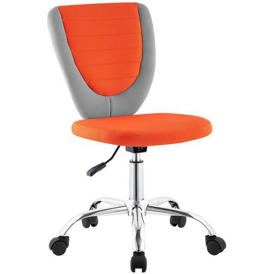 Kinderdrehstuhl FUTURE in grau/orange