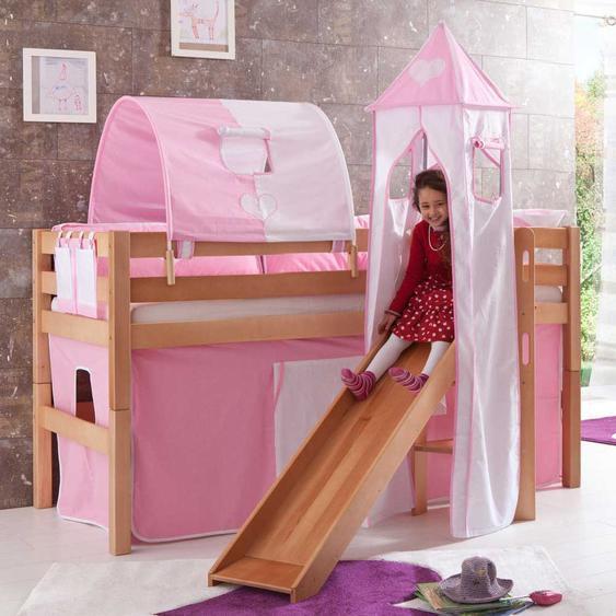 Kinderhochbett aus Buche Massivholz für Kinder