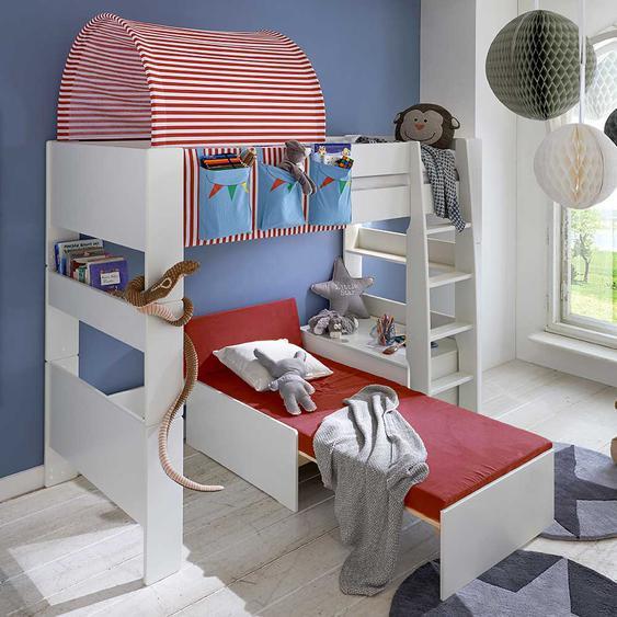 Kinderhochbett mit Tunnel Zirkus Design
