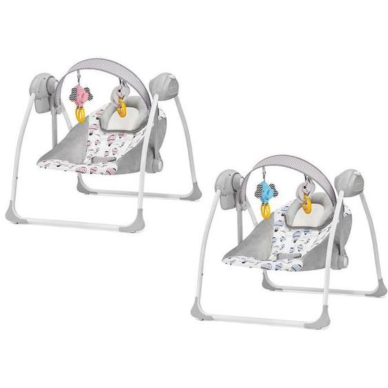 Kinderkraft Babywippe »Flo«, Elektrischer Swing-Bouncer, 3 Geschwindigkeiten, 8 Melodien