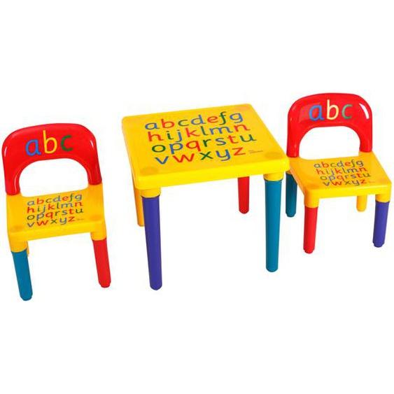 Kindermöbel 3 tlg. Kindersitzgruppe inkl.Kinderstuhl und Tisch Farbig