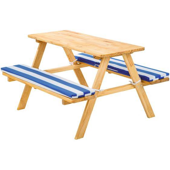 Kinderpicknickbank - blau/weiß