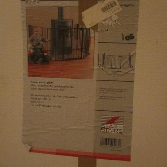 Kindersicherheitsgitter Ben 90-300 Cm Kaminschutzgitter Kompatibel Mit